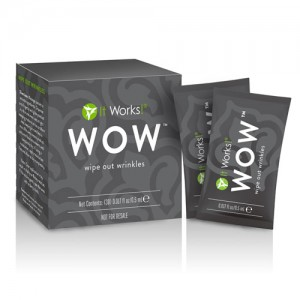 It Works! WOW? wipes out your wrinkles!